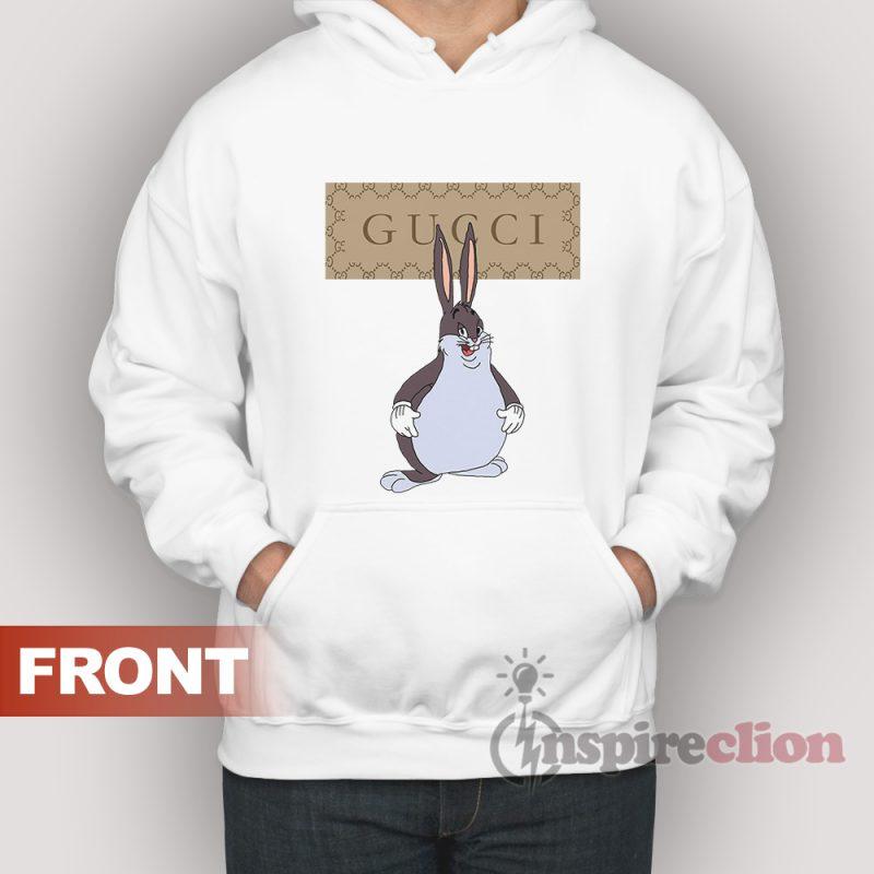 5d684936e97af8 Meme Gucci Big Chungus Bunny Parody Parody Hoodie - Inspireclion.com