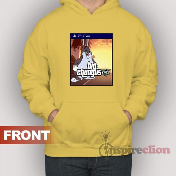 Big Chungus x Sony Playstation 4 Parody Hoodie