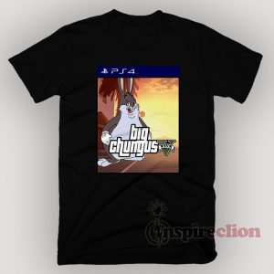 Big Chungus Meme x Sony Playstation 4 Parody Funny T-Shirt