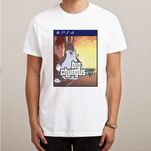 Sony Playstation 4 x Big Chungus Meme Parody T-Shirt