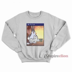 Meme Big Chungus Bunny x Sony Playstation 4 Parody Sweatshirt