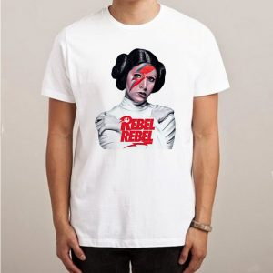 Princess Leia David Bowie Rebel Star Wars T-shirt