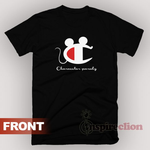 Vintage Champion Mickey Mouse Character Parody T-Shirt