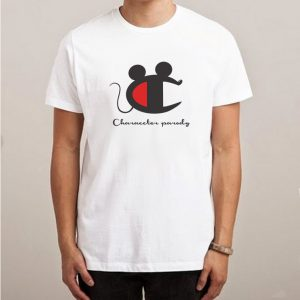Vintage Champion Mickey Mouse Character Logo Parody T-Shirt