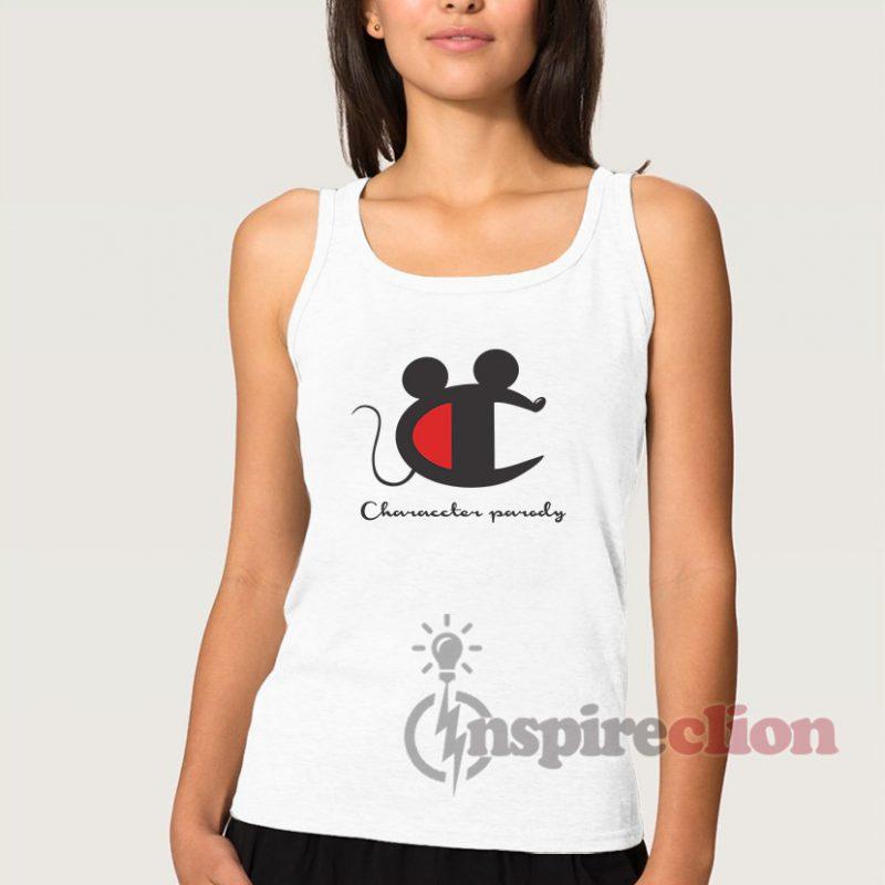 85cb0e9bdba3ae Vintage Champion Mickey Mouse Character Tank Top - Inspireclion.com