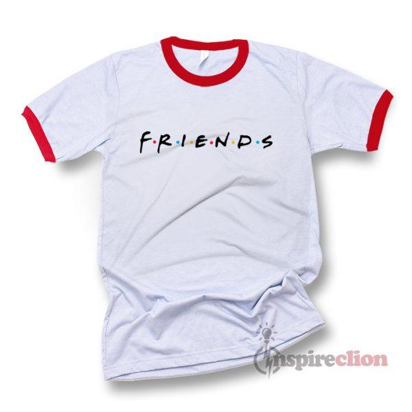 Friends Tv Show Logo Ringer T-Shirt Unisex