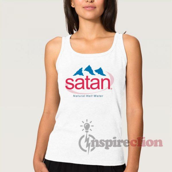 Satan Natural Hell Water Adult Tank Top Custom