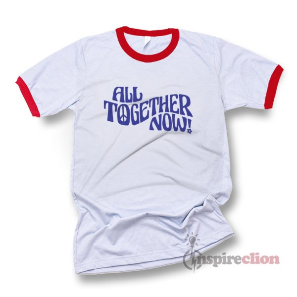 All Together Now Vintage Inspired Graphic Ringer T-shirt Cheap Trendy