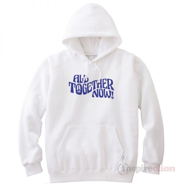 All Together Now Vintage Graphic Peace Logo Hoodie