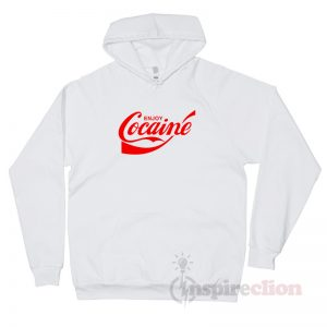 Enjoy Cocaine Coca Cola Parody Hoodie Custom