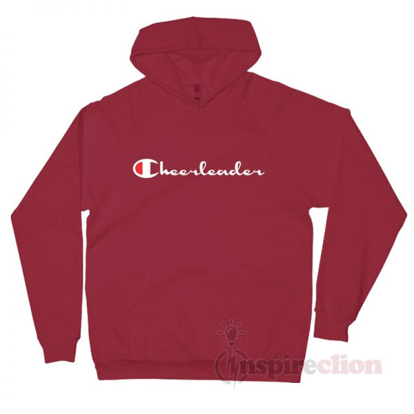 Cheerleader Champion Logo Parody Hoodie Custom