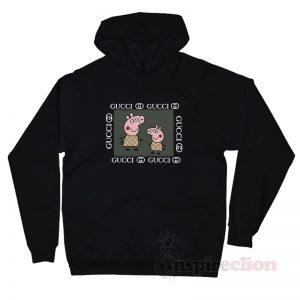Piggy Gang Peppa Pig Gucci Logo Parody Hoodie Unisex