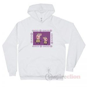 Gacci Peppa Pig Purple Gucci Funny Parody Hoodie