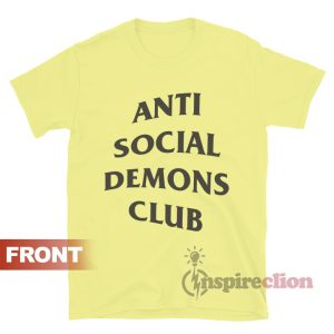 Anti Social Demons Club T-shirt Unisex Trendy