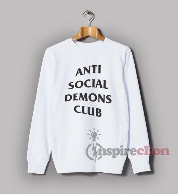 Anti Social Demons Club Sweatshirt Unisex