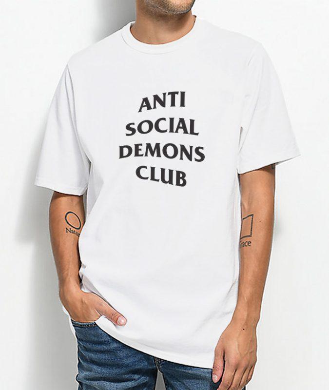 0ea78d2e0d45 Anti Social Demons Club T-shirt Unisex Trendy - Inspireclion.com