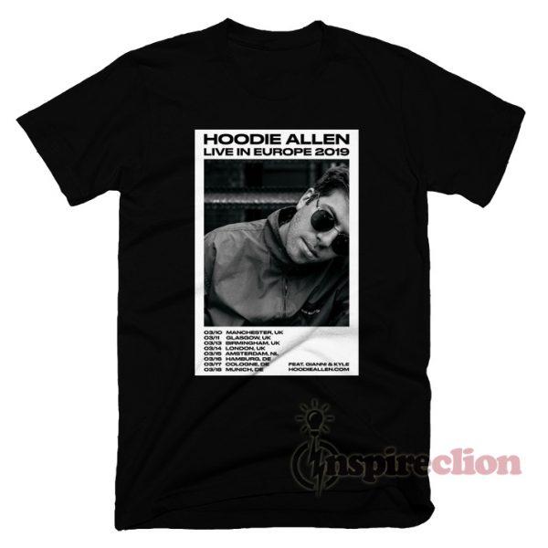Hoodie Allen Europe 2019 Tour T-shirt