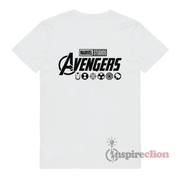Avengers End Game All Caracter T-Shirt