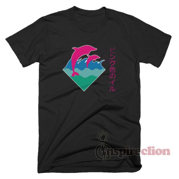 For Sale Pink Dolphin Waves T-Shirt