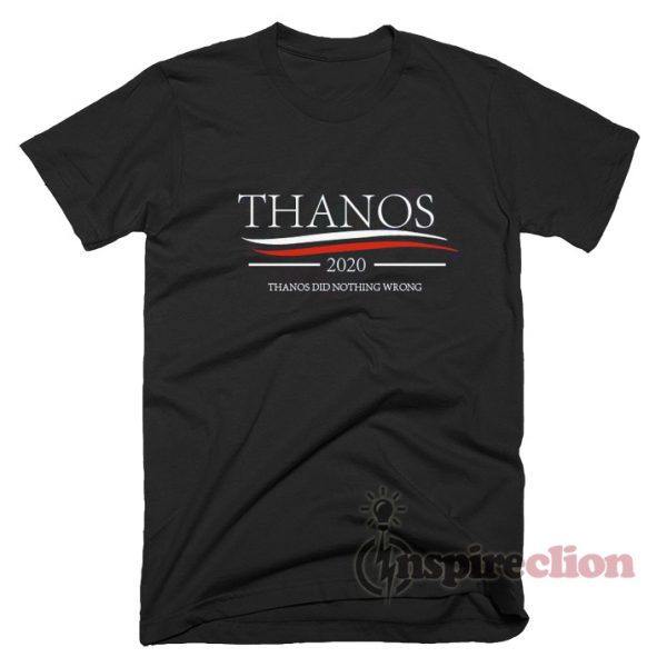 Avengers Thanos 2020 Did Nothing Wrongs Meme T-Shirt