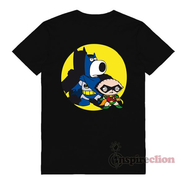 Brian And Stewie Family Guy x Batman Style T-Shirt