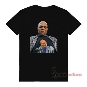 Samuel L. Jackson wearing a t-shirt of himself T-Shirt