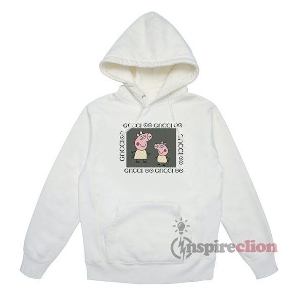 Fancy Peppa Pig GC Logo Gacci Parody Hoodie