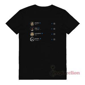 Legends Die Young Freddie Mercury Tupac Shakur Kurt Cobain & Jimi Hendrix T-shirt