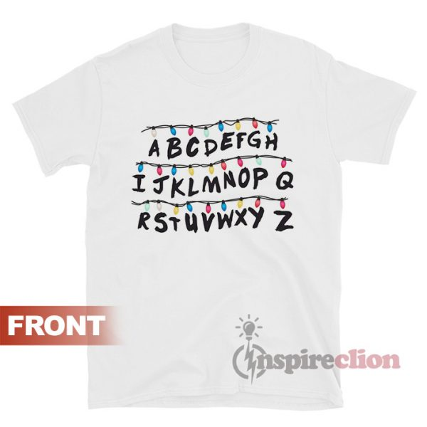 Stranger Things Alphabet Wall T-shirt