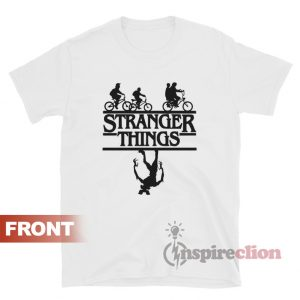 Stranger Things Bicycle Up Side Down T-shirt