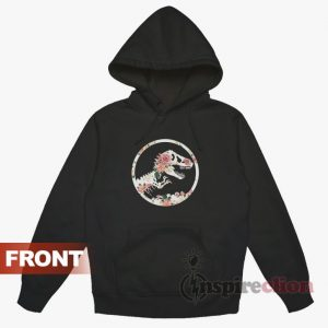 Jurassic Floral Graphic Logo Crew Neck Hoodie