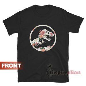 Jurassic Floral Logo Funny T-shirt