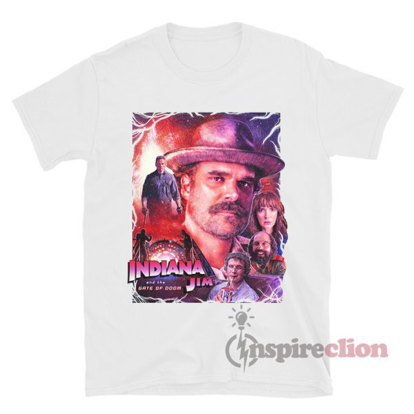 Indiana Jim Stranger Things Hawkins Indiana T-shirt