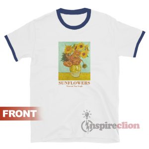 Sunflowers Vincent Van Gogh Ringer T-shirt