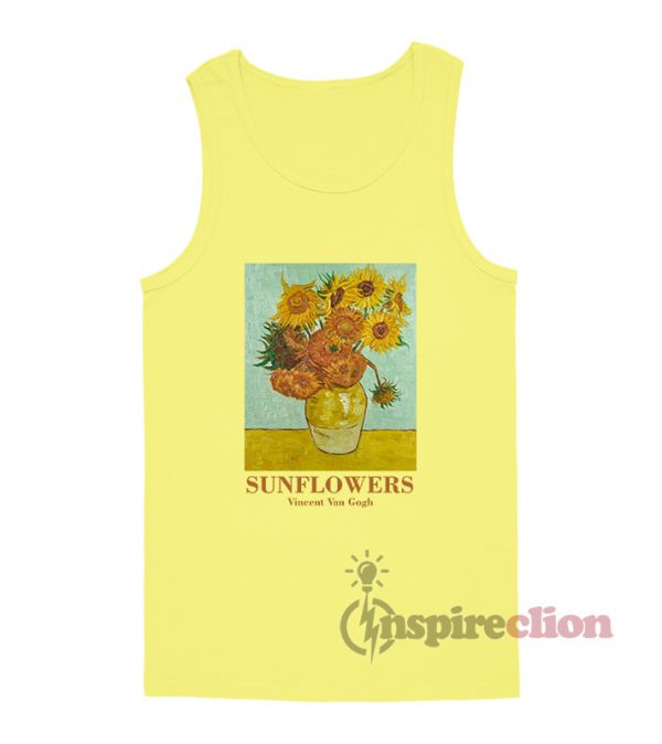 Sunflowers Vincent Van Gogh Tank Top