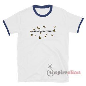 Antisocial Butterfly Ringer T-shirt Unisex