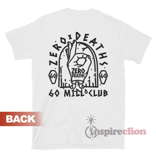 Zero Deaths 60 MIL Club T-shirt PewDiePie