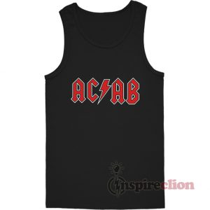 All Cops Are Bastards ACAB In AC/DC Style Logo Tank Top