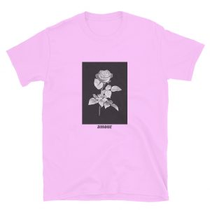 Rose Word Amour Pink T-shirt
