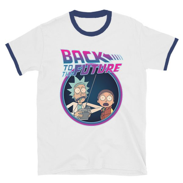 Rick And Morty Back To The Future Ringer T-shirt