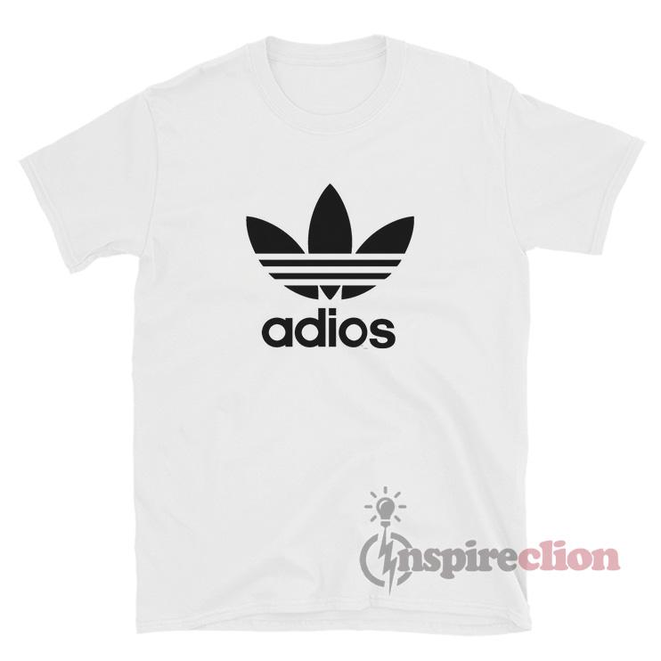 Adios Adidas Logo Parody T Shirt