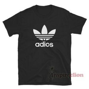 Adios Adidas Logo Parody T-Shirt
