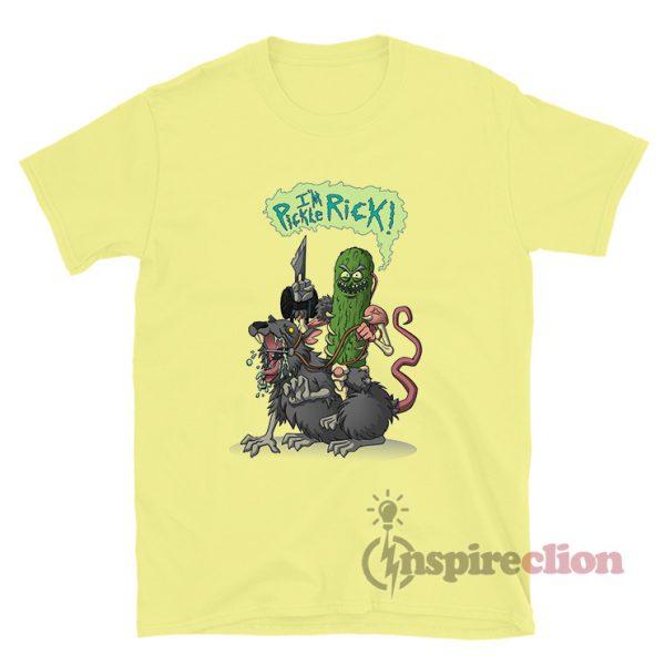 Pickle Rick Mouse Rats Modify T-shirt Rick And Morty