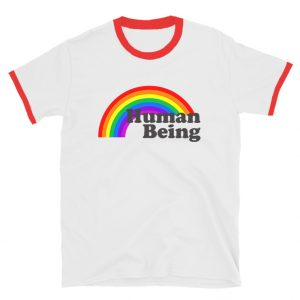 Human Being Rainbow Ringer T-Shirt Unisex