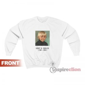 In Memoriam Kurt Cobain Child Nirvana Sweatshirt