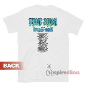 Get It Now Billie Eilish World Tour 2019 Bulldog T-Shirt
