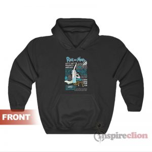 Rick And Morty Quotes Hoodie For Unisex