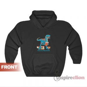 Velocireader Awesome Velociraptor Reader Dinosaur Hoodie