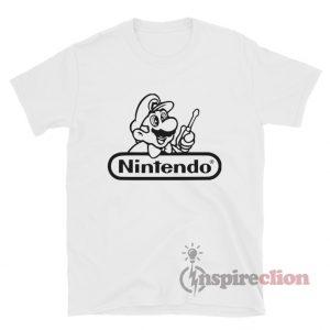 Mario Repair Nintendo Logo Vinyl T-Shirt