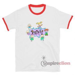 Rugrats Nick Logo And Characters Ringer T-Shirt